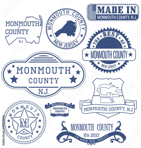 Photo  Monmouth county, NJ, generic stamps and signs