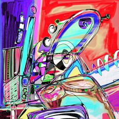 Plakat original illustration of abstract art digital painting