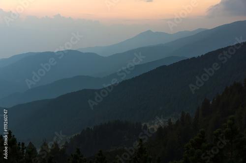 Fototapeta Sunset Landscape of nothen part of Pirin mountain near Sinanitsa peak,  Bulgaria