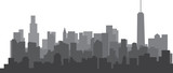 Fototapeta City - Modern City Skyline on white background. Real estate business concept.