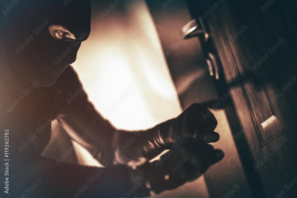 Fototapeta Caucasian House Burglar