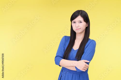 Fototapety, obrazy: 怒った表情の女性