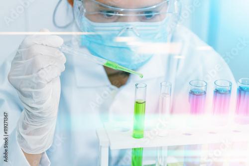 Fotografie, Obraz  (SCIENCE) Scientists are certain activities on experimental scie