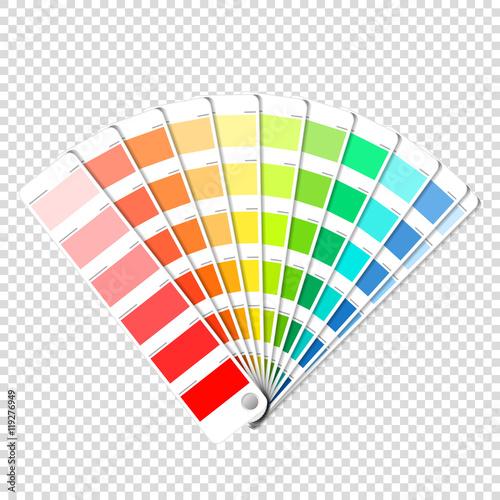 Obraz na płótnie Color palette guide on transparent background