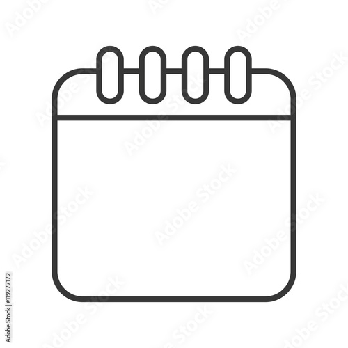 calendar month planner time icon flat and isolated design vector