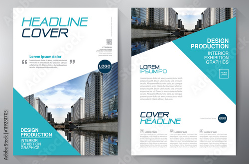 Fototapeta Business brochure flyer design a4 template. obraz