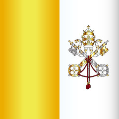 Naklejka Vatican City Flag