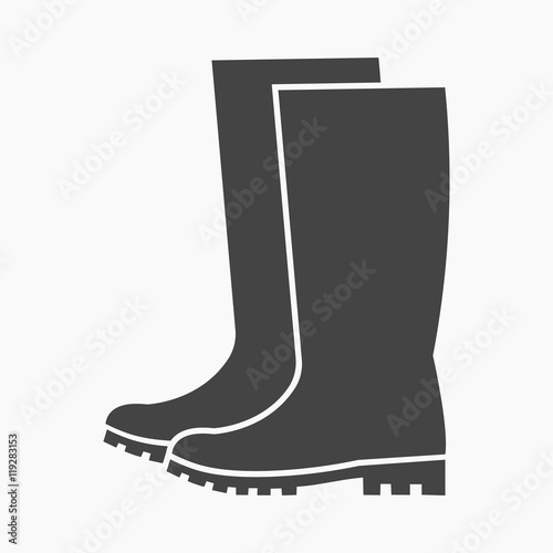 Obraz Rubber boots icon of vector illustration for web and mobile - fototapety do salonu