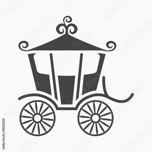 Carriage icon of vector illustration for web and mobile Canvas Print
