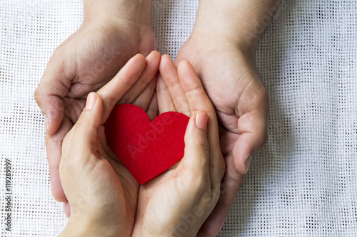Holding Red Heart Canvas Print
