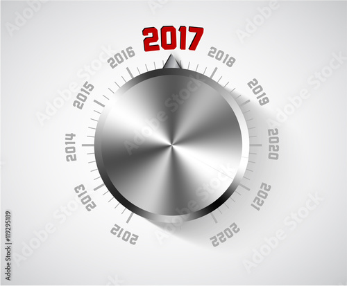 vector 2017 new year card for music lover