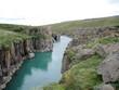 Rivière turquoise d'Islande