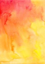 Orange Watercolor Vector Background