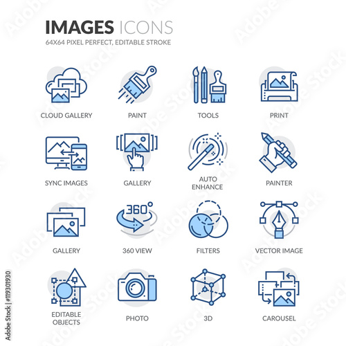 Fotografía  Line Images Icons