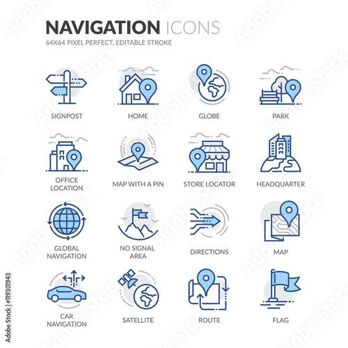 Fotografia  Ikony nawigacji liniowej