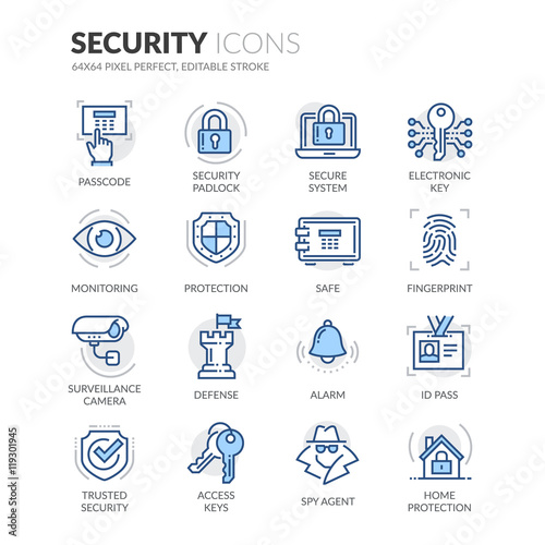 Fotografia  Line Security Icons