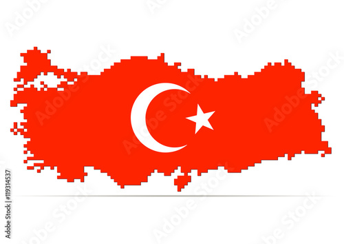 Creative pixel Turkey map vector illustration - Buy this ...