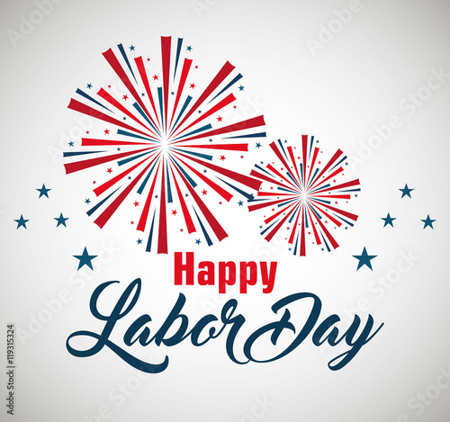 Happy Labor Day Poster Icon Vector Illustration Design Buy This