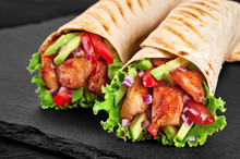 Burrito With Grilled Chicken A...
