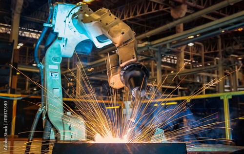 Fotografie, Obraz  Robot welding test run program