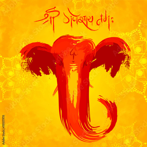 Photo  Lord Ganapati background for Ganesh Chaturthi