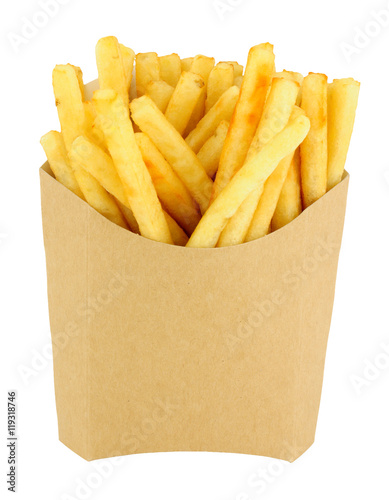 French Fries In A Cardboard Scoop Poster