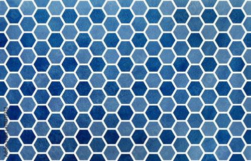 Staande foto Grafische Prints Watercolor geometrical comb pattern.