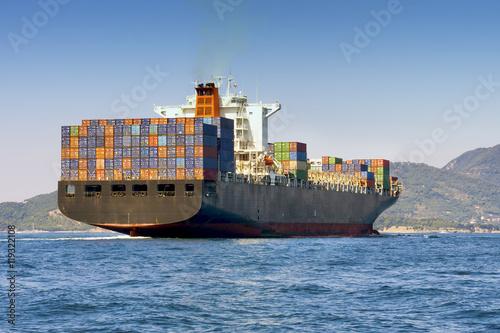 Fotografia  cargo container ship