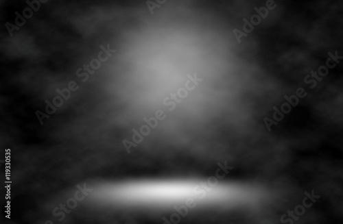 Fototapety, obrazy: Spotlight white smoke background.