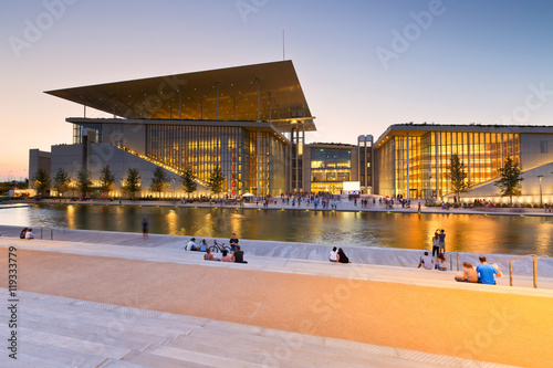 Photo sur Aluminium Opera, Theatre View of Stavros Niarchos Foundation Cultural Center in city of Athens.