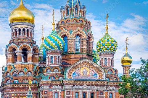 Église du Sauveur sur le sang déversé, Saint-Pétersbourg Russie Poster Mural XXL