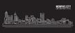 Cityscape Building Line art Vector Illustration design - Memphis city