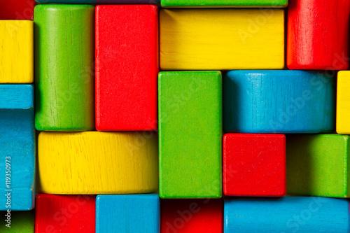 Photo  Toy Blocks Background, Organized Children Building Bricks
