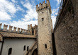 Medieval castle Scaliger in old town Sirmione on lake Lago di Garda. Italy