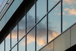 canvas print picture - Sky reflected in a glass facade