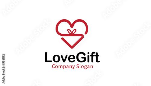 Love Gift Logo Design Ilration