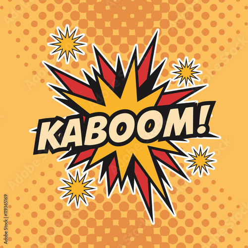 Obraz na płótnie kaboom boom explosion cartoon pop art comic retro communication icon