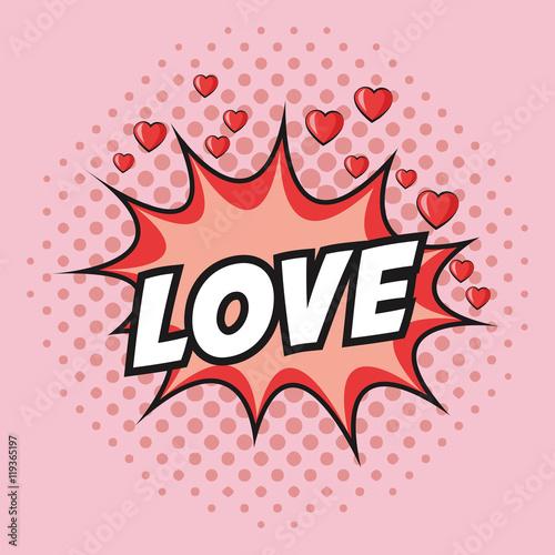 Obrazy wieloczęściowe biały napis LOVE na różowym tle