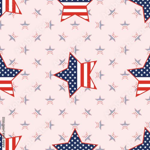 USA patriotic stars seamless pattern on national stars background. American patriotic wallpaper with USA patriotic stars. Wallpaper pattern vector .