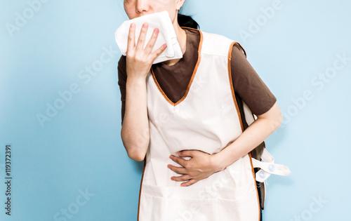 Fotografie, Obraz  吐き気, 介護士