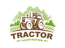Tractor Logo Illustration, Emb...