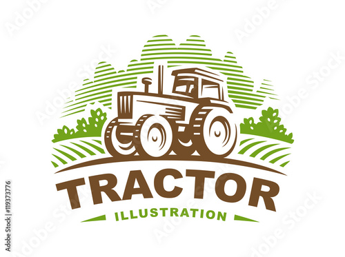 Ilustracja logo ciągnika, godło