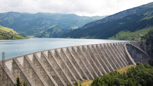 Canvas Prints Dam Barrage hydroélectrique de Roselend en France