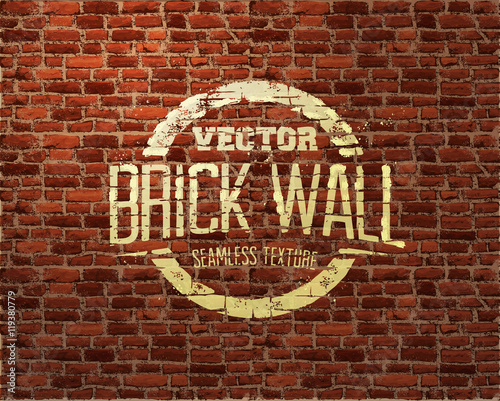 Brick wall seamless pattern Canvas Print