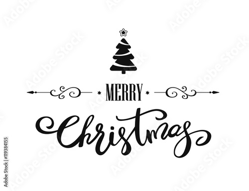 Fotografering  Merry Christmas lettering design