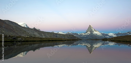 Papiers peints Gris Beautiful landscape with the Matterhorn in the Swiss Alps, Europ