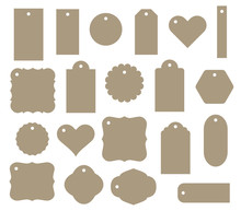Set Of Vector Gift Tag, Discou...