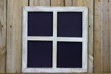 Rustic Window Frame With Blank...