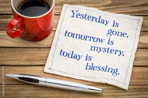 Today is blessing Canvas Print