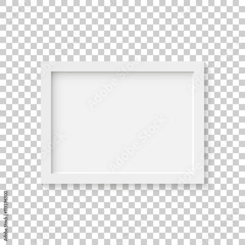 Foto White picture frame vector illustration